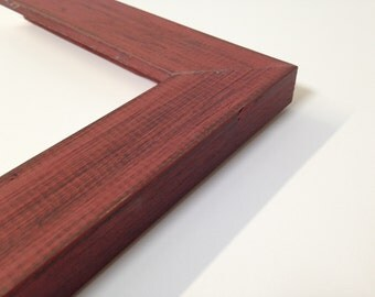 RED Rustic Wood Picture Frame, Reclaimed Distressed Wood - All Wood - 3x5, 4x6, 5x7, 8x10, 11x14, 16x20, 18x24, 24x36 + Custom Frame Sizes