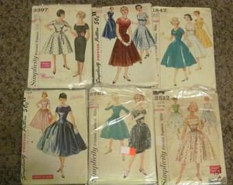 6 Vintage Sewing Patterns