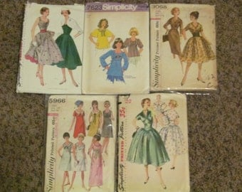 5 Vintage Sewing Patterns