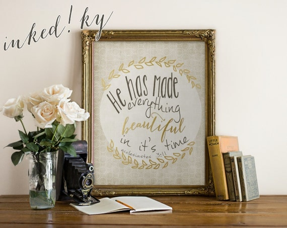 Bible verse art printable diy home office christian by inkedky for Bible verse decor