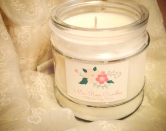 THREE 6 oz Candles--100% All-Natural Soy--You Choose the Scents
