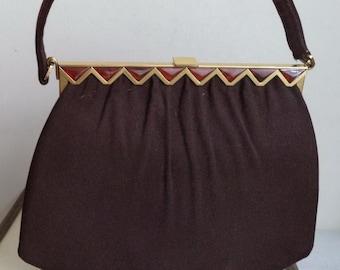 Art Deco Bakelite handbag Retro 40s Bag, Top Handle Kelly Bag, Vintage Bag, Bakelite Bag, Art Deco Bag, Retro Bag, Vintage Handbag, Purse