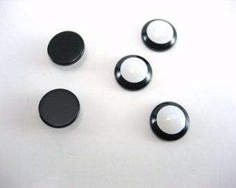 Black and White Resin Cabochons Choose 5 10 or 20 Pieces12 mm Cabochons Imitation Shell Cabochons Pearlescent  Jewelry Supplies Small Lot