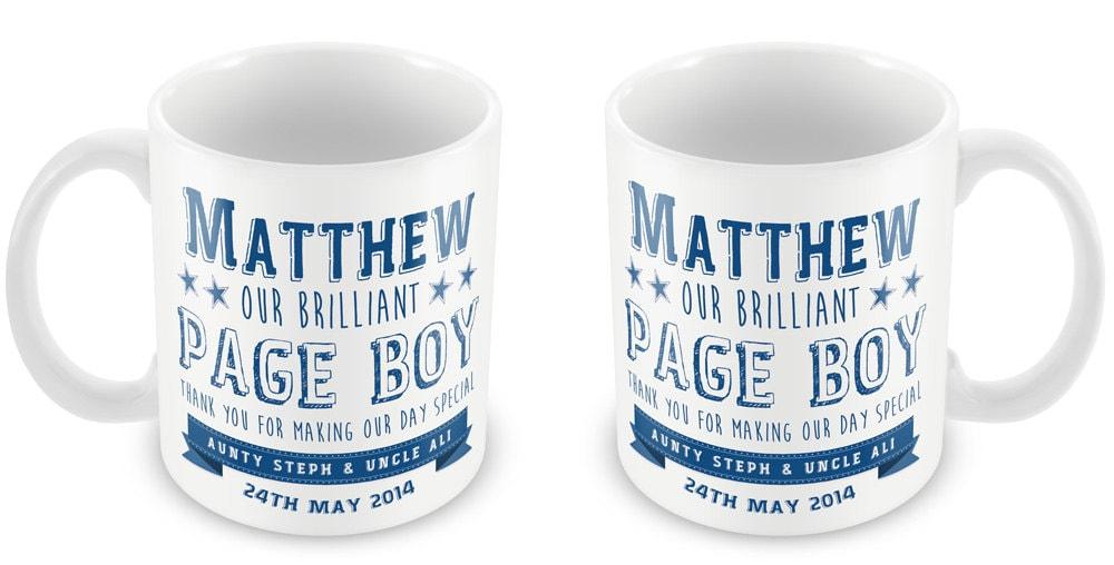 Personalized Page Boy Wedding Mug Thank You Present Gift Boy