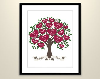 Family Tree Poster // Personalized // 11X14