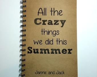 Journal, Summer Notebook, Adventure, Best Friend Gift, Notebook, Diary, Summer Adventure, Personalized, Couple, Vacation, Sketchbook, Custom