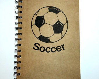 Soccer, Soccer Notebook, High School Soccer, Sports Journal Soccer, Notebook, Journal, Best Friend Gift, Notebook, gift, Sketchbook, Diary