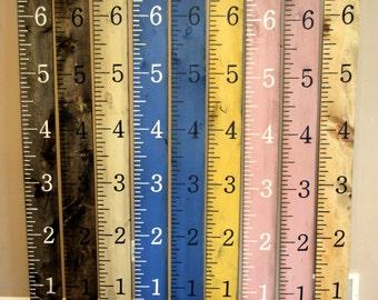 Kids height chart Hand painted kids growth chart ruler