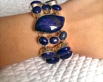 Lapis sterling silver bracelet.