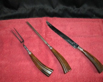 E. Parker and Sons Vintage Carving Set
