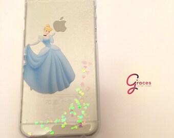 Cendrillon Disney Glitter cas - iPhone 8 7 6 plus 6 s 6 5 s 5c 5 - coque pour iPhone Disney - iPhone iPhone coque - Disney - 8 plus - iphone 8-