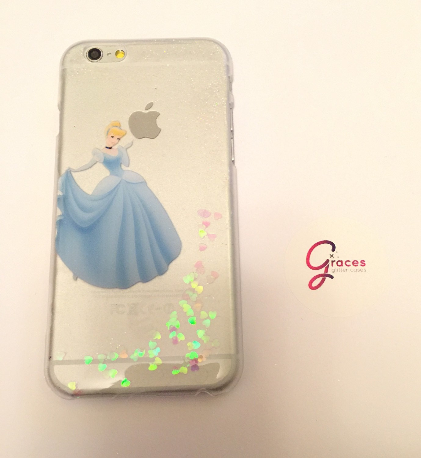 Cinderella Disney Glitter Case iPhone 8 7 6 plus 6s 6 5s 5c
