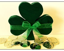 St. Patrick's Day Three leaf clover wood decoration!  This three leaf clover is sure to bring your good luck on St. Paddy's Day!