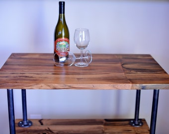 The Big Drinker - Pistachio Wood Beverage Cart with Casters