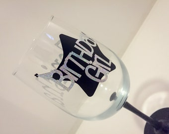 Personalized Birthday Wine Glass