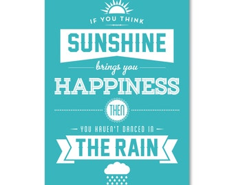 Quote postcards / Art postcards / Postcard Pack / Sunshine & Rain