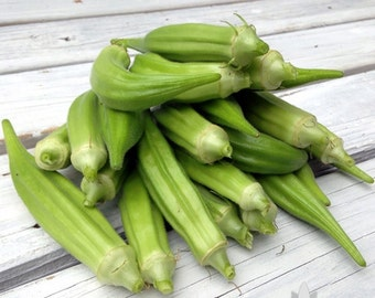 Clemson Spineless Okra Heirloom Seeds - Non-GMO, Open Pollinated, Untreated