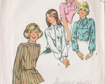 Simplicity 6625 Vintage 1974 Blouse Sewing Pattern