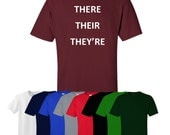 There Their They're T-shirt Print Grammar Joke Christmas Gift Mens Womens Ships Worldwide S-XXL