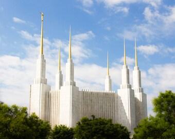 Lustre print of Washington DC LDS temple