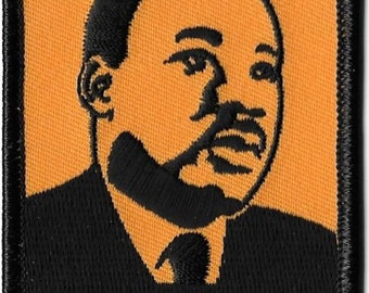 Martin Luther King, Dr. King, MLK, Embroidered Patch, Iron-On Applique, Badge, Civil Rights Leader, Art by Artist Dave Cherry
