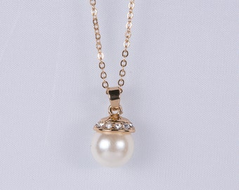 Bridal Necklace Ivory Pearl Necklace pendant Necklace Cream Pearl Swarovski Sterling silver Necklace Bridesmaid Gift Wedding Jewelry n39