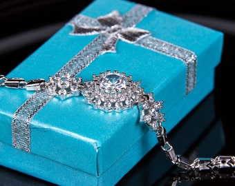 Crystal bracelet, Bridal bracelet, Rhinestone Bracelet, Swarovski Bracelet, Wedding bracelet, Bridal accessories, Prom, Crystal Bracelet b42