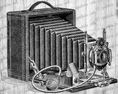 Antique Camera Clipart / Vintage Photography Camera Graphics - Digital Antique Graphics Printable Image - Clipart - Instant Digital Download
