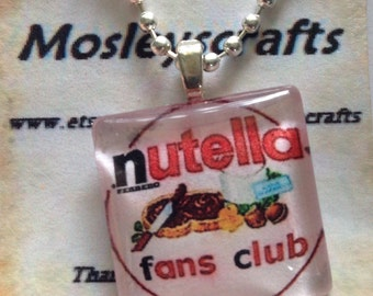 Nutella necklace -Nutella pendant necklace - food jewelry - nutella jewelry/Handmade jewelry