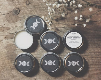 Moon Goddess Wiccan Pagan Lip Balm Small Batch Hand-made in New England
