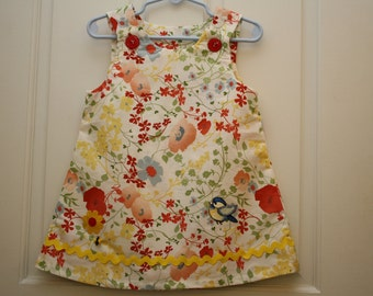 Girls Handmade Vintage Print Cotton Sundress