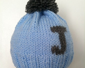 Kid's Hat, Personalized, Monogrammed, Custom, hand made, sizes 0 - 4 yrs.