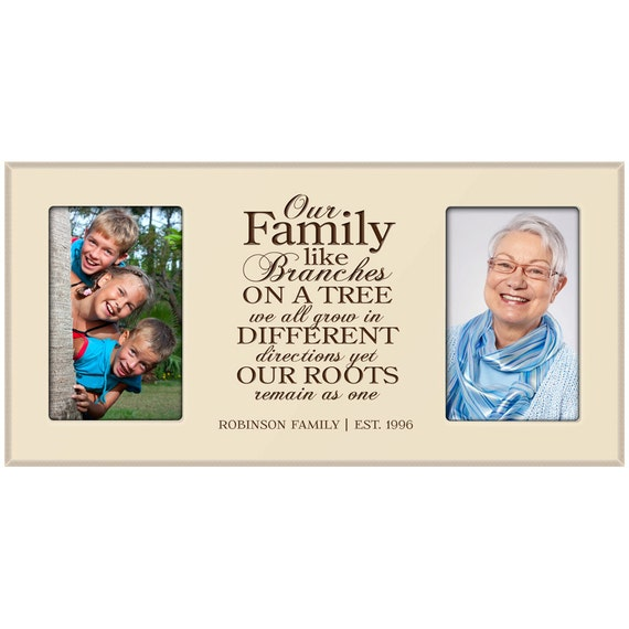 Wallverbs Family Tree Personalized Picture Frame Set: Our Family Tree Personalized Photo Frame,Custom Family