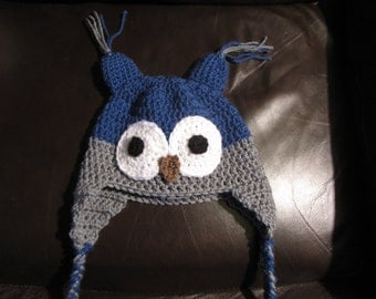 Tuque OWL for boy 2 to 4 years