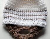 CROCHET Newborn Beard Hat Beanie