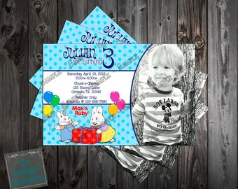 Max and Ruby Birthday Party Invitation Photo Printable (Boy or Girl Versions Available)