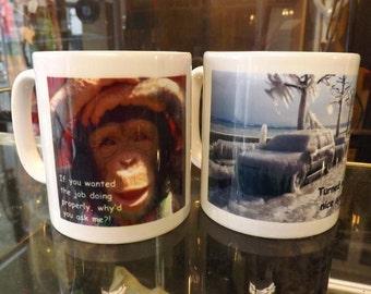 Personalised coffee mug , mug made to order