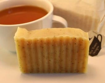 Peppermint Tea Soap: All Natural Handmade Vegan Soap, Cold Process Method