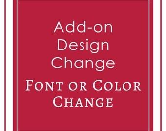 CUSTOM DESIGN CHANGE / Proof - a la carte, add on