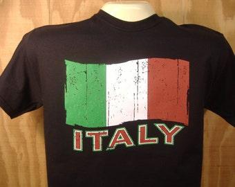 Italy T-shirt Italian Flag 100% Cotton  S-XXXL