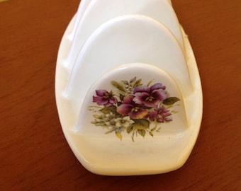 Royal Caledonia pottery toast holder england