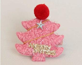 Christmas hair accessory/ Girls hair clips/ Christmas tree hair clip/ X-mas hair clip/ Christmas hair clip
