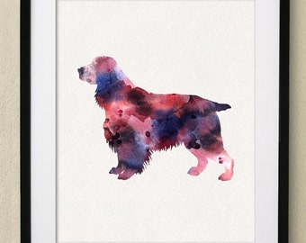 Dog Poster - Welsh Springer Spaniel Watercolor Painting Wall Art Wall Decor Art Home Decor Wall Hanging