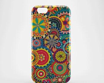 Retro Circles Phone case,  iPhone X Case, iPhone 8 case,  iPhone 6s,  iPhone 7 Plus, IPhone SE, Galaxy S8 case, Phone cover, SS139a