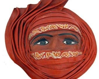 Masque Touareg en cuir