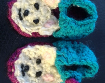 Crocheted Baby Sandals - Bear