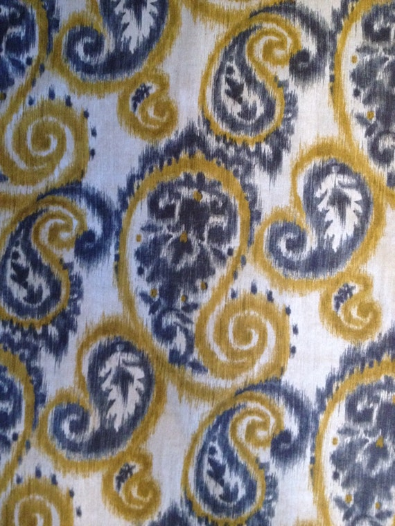 Fabric baby gate yellow and grey by greatgates on etsy for Yellow baby fabric