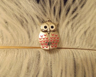 White Watch Owl Pendant