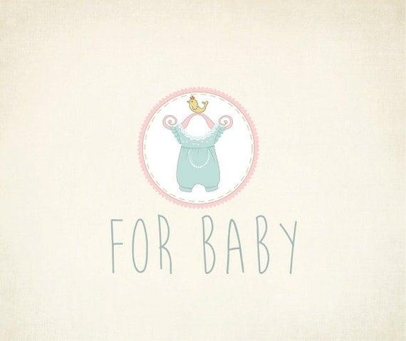 custom baby boygirl fashion logo design by maggieartstudio