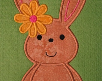 Kutie Bunny Applique Embroidery Machine Design for the 5x7 hoop